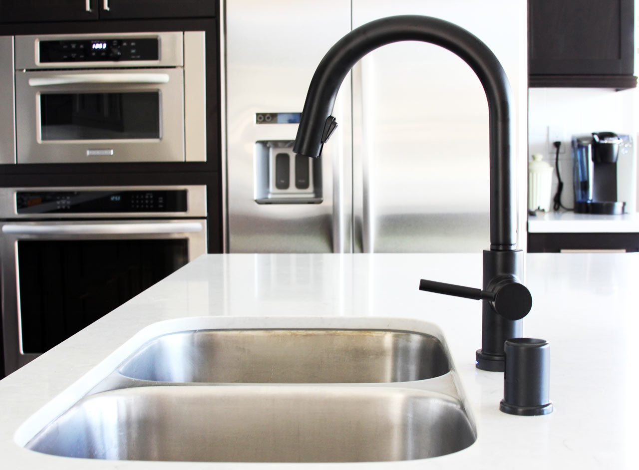 kohler kitchen sink faucets hutch buffet black is the new - design milk