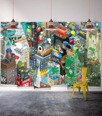 Cool Graphic Wallpaper by Milton & King - Design Milk