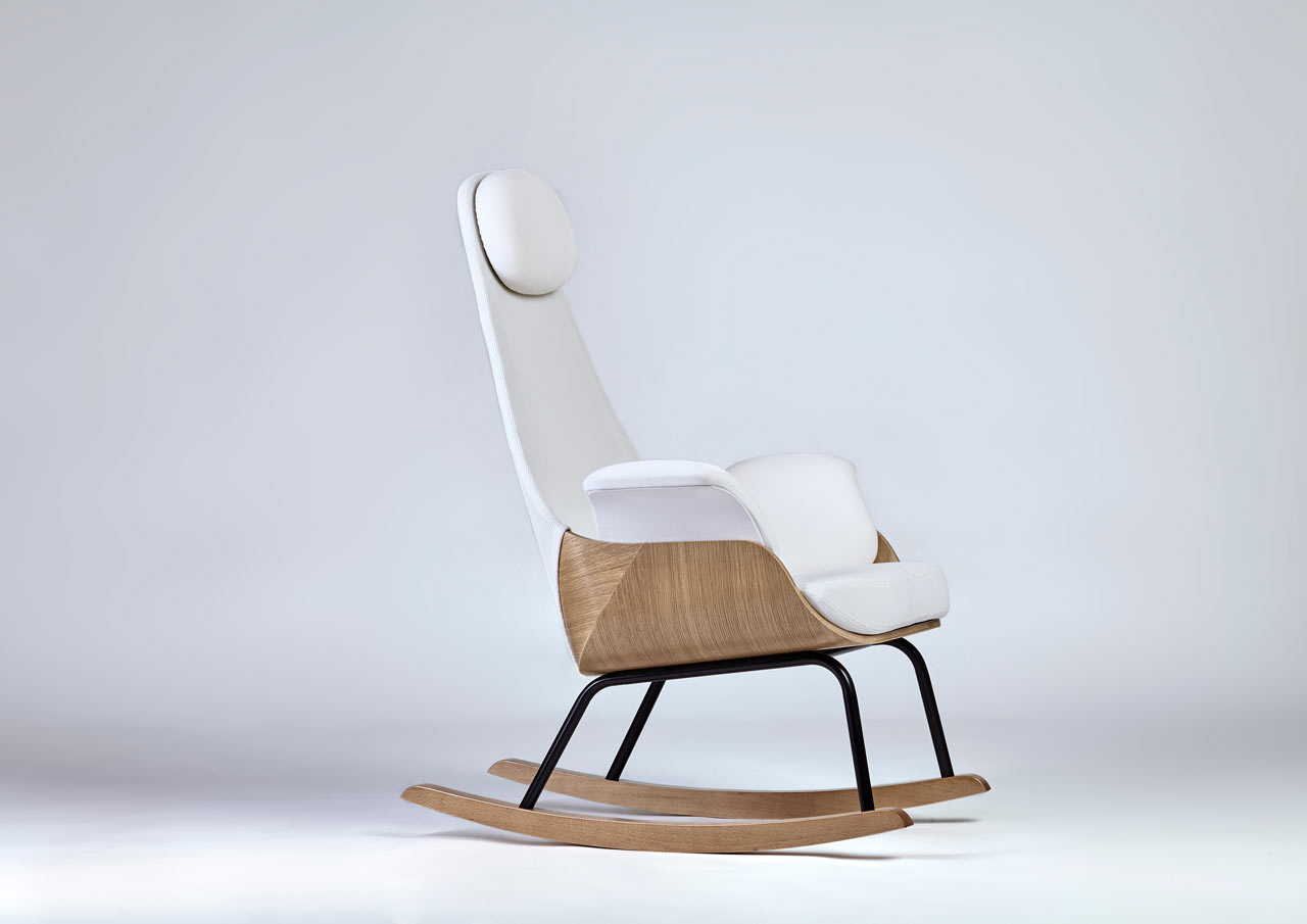 A Rocking Chair Reinvented For New Moms Design Milk