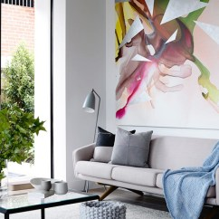 Large Artwork For Living Room White Sofa Decorating Ideas 10 Rooms With Oversized Art Design Milk Photo By Derek Swalwell