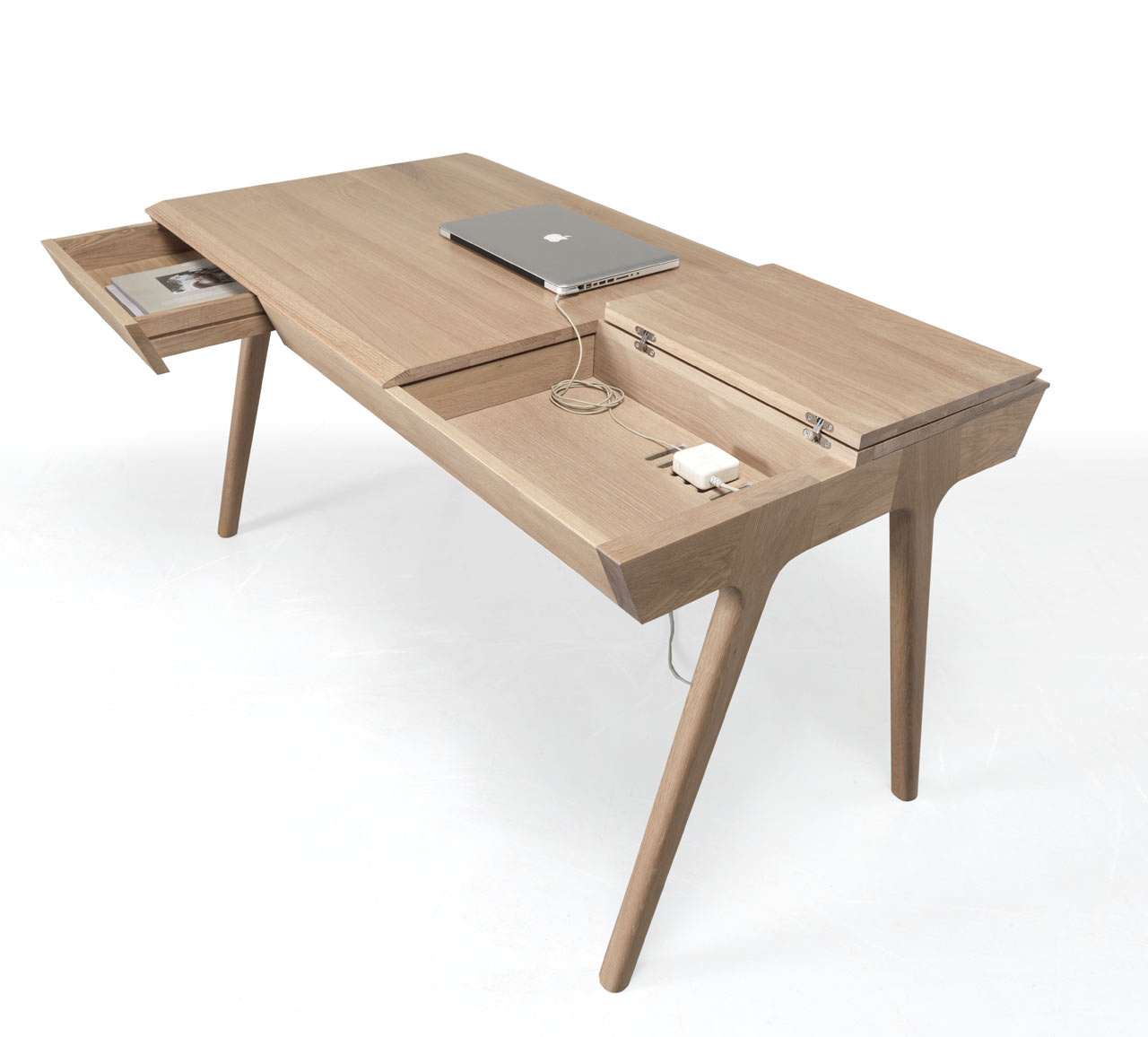 METIS A Solid Wood Desk with Plenty of Storage  Design Milk