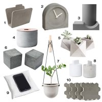 10 Modern Concrete Accessories - Design Milk