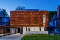 A House in Toronto Wrapped in Corten Steel