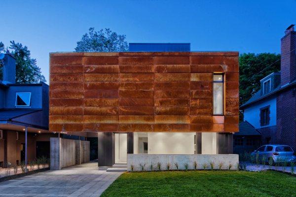 A House in Toronto Wrapped in Corten Steel - Design Milk