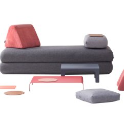 Urban Sofa Gallery White Fabric Set A Multifunctional For Nomads Design Milk