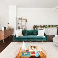 West Elm Living Rooms Room With Stairs Design Ideas 3 Brands Team Up To A Nyc Home Milk Homepolish And Sonos