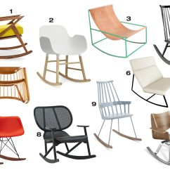 Hard Plastic Outdoor Rocking Chairs High Back Vinyl Dining 10 Modern That Could Work In Any Room