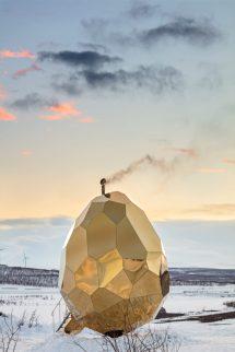 Solar Egg Public Sauna Locals Meet - Design Milk