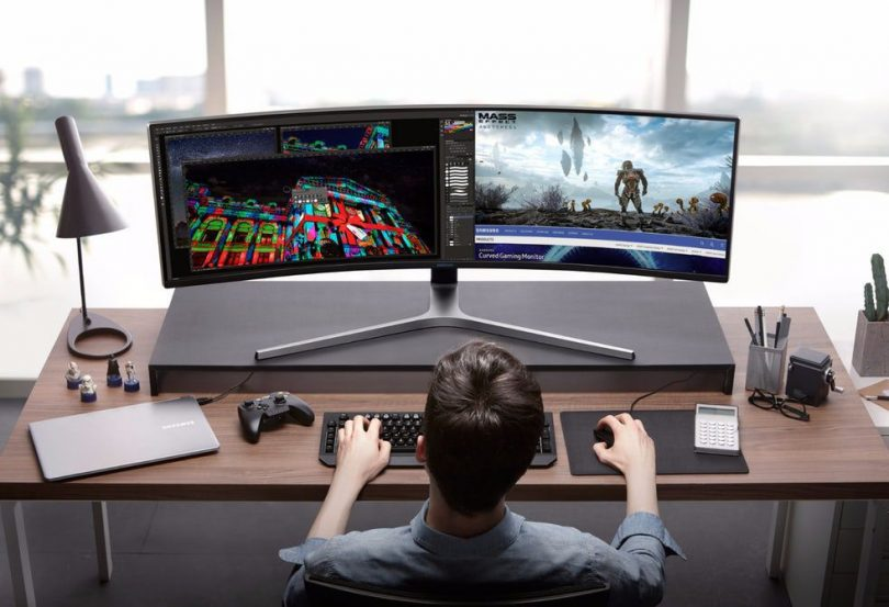 The 49″ Samsung CHG90 QLED Requires a Learning Curve