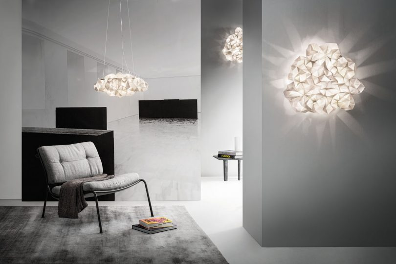 SLAMP Debuts Crystal-Inspired Light Fixtures by Adriano Rachele