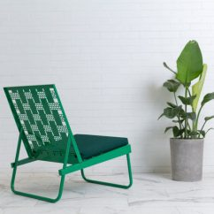 Modern Steel Chair Design Swivel For Sale Outdoor Sunday Lounge Chairs By Revolution House Milk The Have A Laser Cut Pattern That Gives Illusion Of Woven Straps Except These Won T Fray Over Time And Break