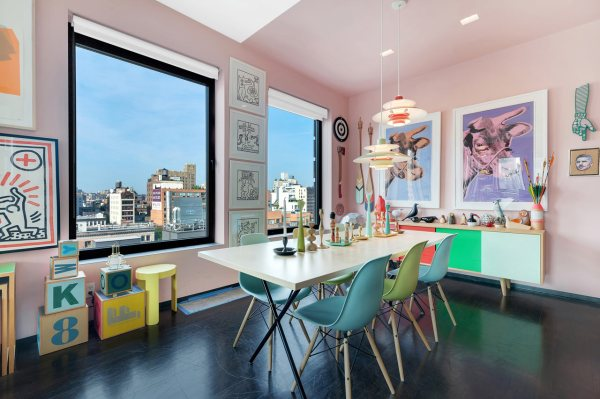 Colorful Dining Rooms with Art