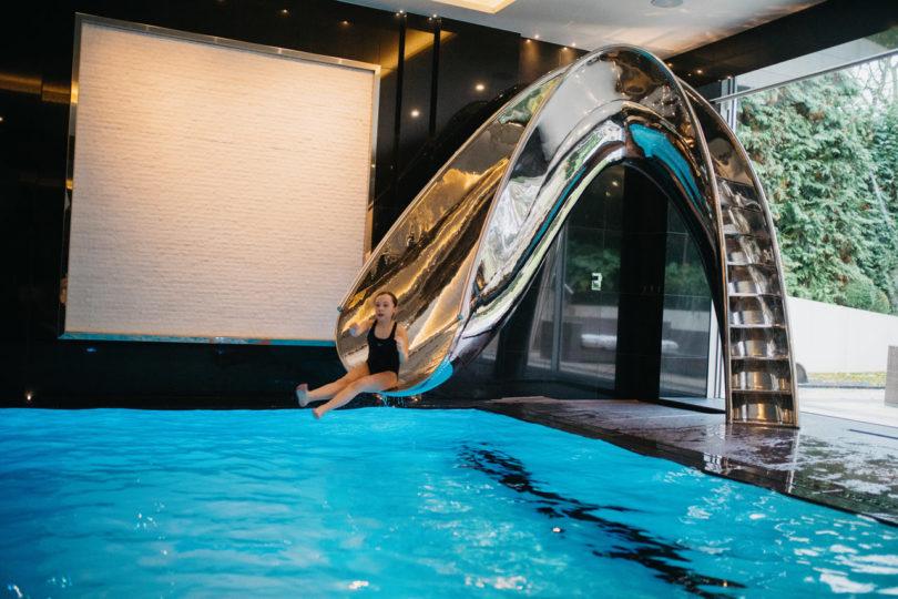 Sleek Sculptural Water Slides for the Modern Pool