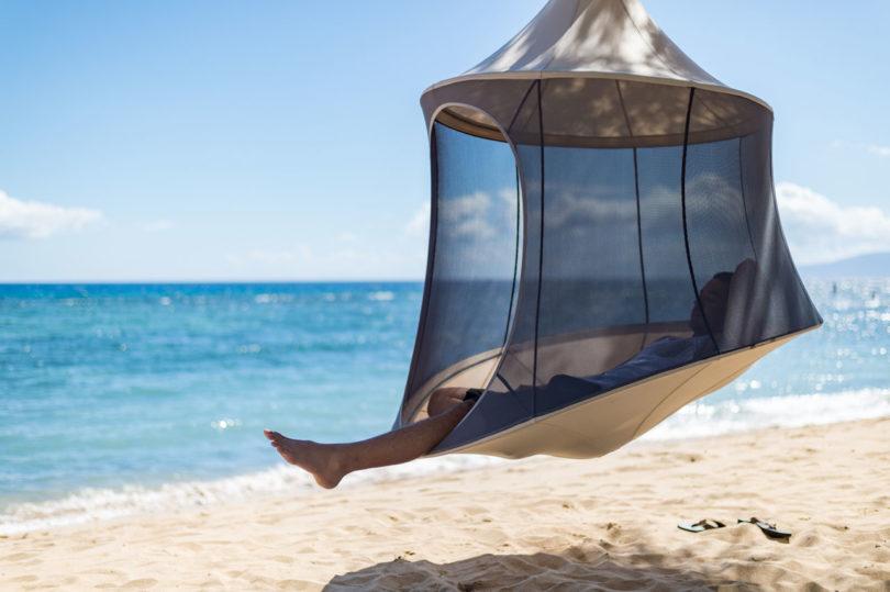 TreePod A Portable Hanging HammockLike Cabana  Design
