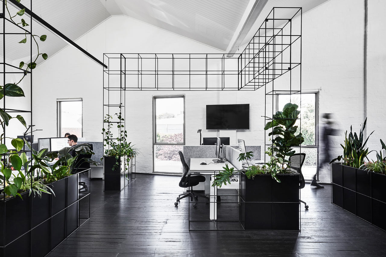 Candlefox HQ: A Graphic, Black and White Office in
