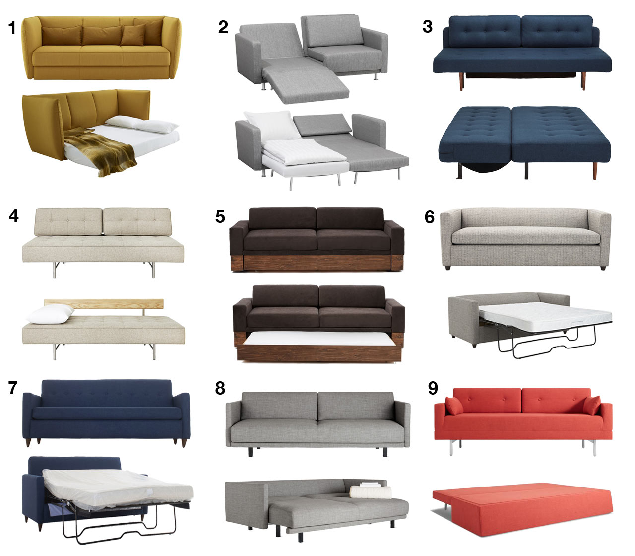 Modern Sofa Beds and Sleeper Sofas Your Guests Won't Hate