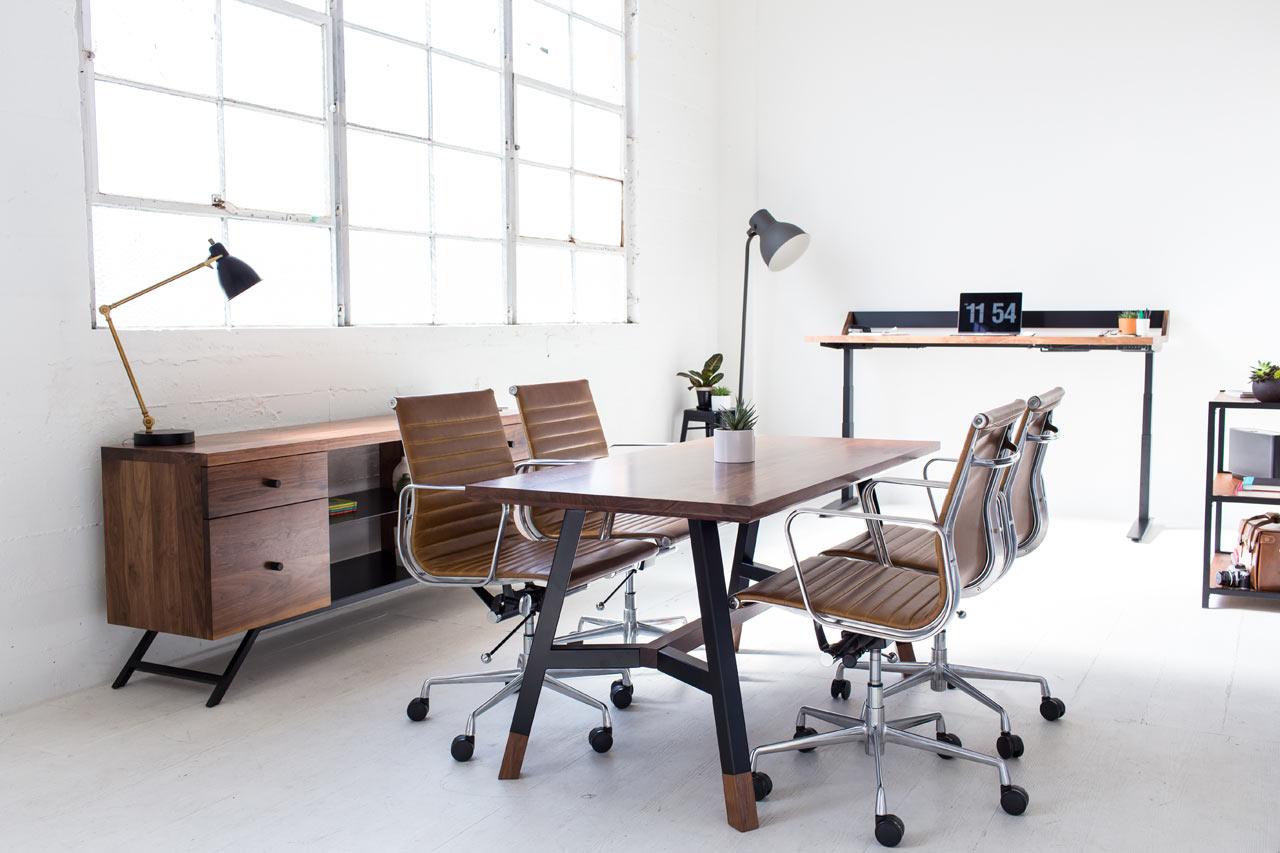office chair good design white childs desk and harkavy furniture creates modern walnut steel