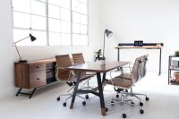 Harkavy Furniture Creates Modern Walnut & Steel Office