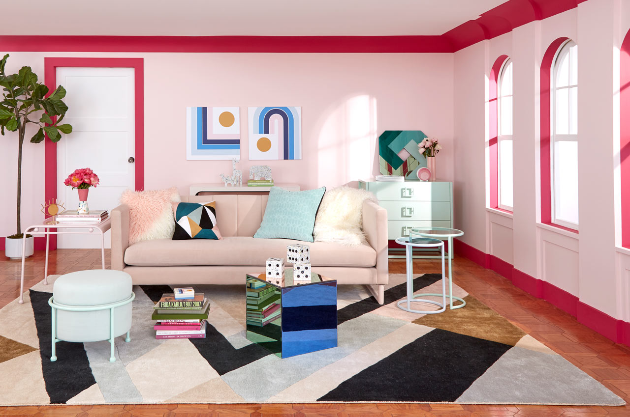 amazon com living room furniture narrow ideas with fireplace now house by jonathan adler launches on and it s fresh af