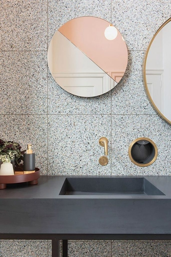 wall mirror over sink