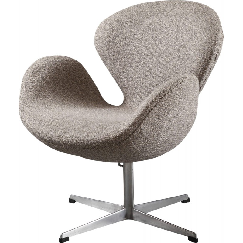 Swan Chair Swan Chair In Fabric Aluminum By Arne Jacobsen - 1960s ...