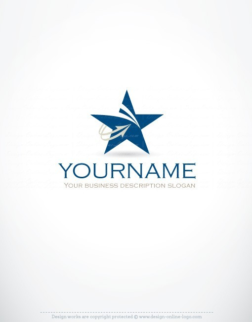 Exclusive Design Innovative Star Logo Free Business Card