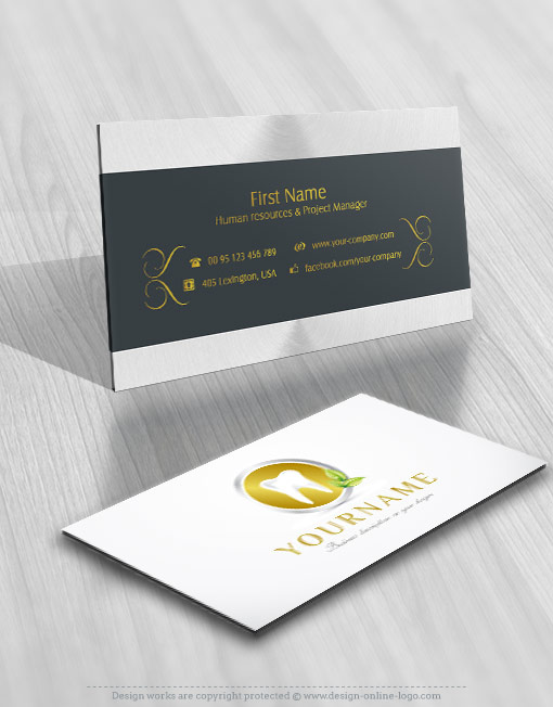 Exclusive Design Ready Made Dental Logo FREE Business Card