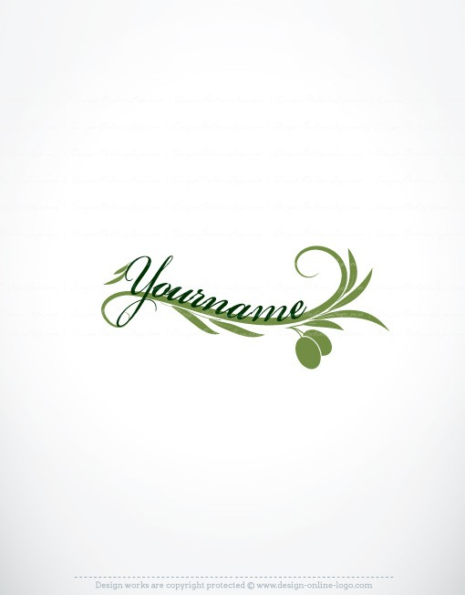 Exclusive Design: Olive Logo + Compatible FREE Business