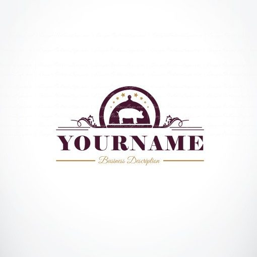 Exclusive Design Meat Restaurant Logo Free Business Card
