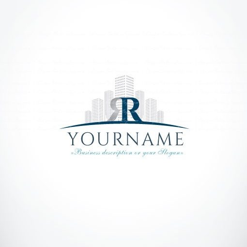 online Initials Real Estate Logo + FREE Business Card