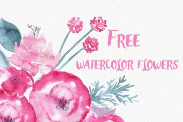 watercolor flowers floral clip flower graphics background thehungryjpeg gorgeous graphic clipart elements freebie illustrations comments pack hungry sweet web nadi