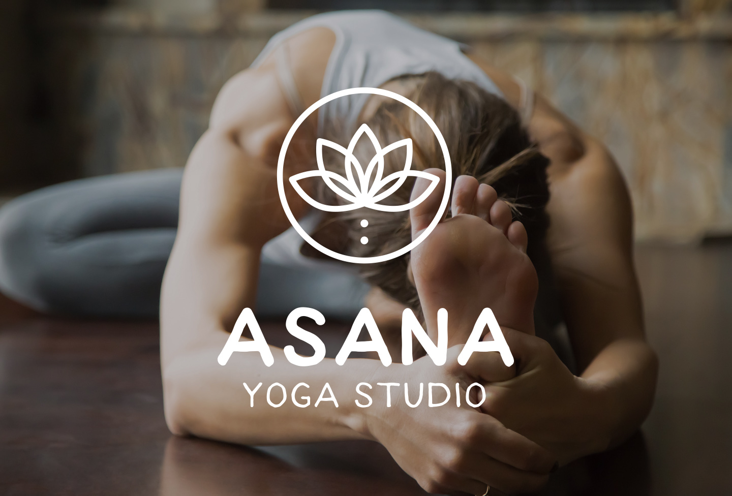 Asana Yoga Studio Logo Design from Aardwolf Design Studio Branding Identity Design