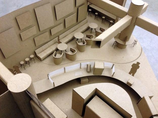 interior design students propose ideas for relocating the atrium