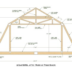 Truss Style Diagram Protist Cell Labeled Medeek Design Inc Gallery Gambrel Attic Trusses