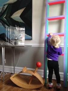 Toddler parkour in progress.