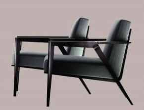 Holly Hunt's Odense chairs are instantly recognizable.