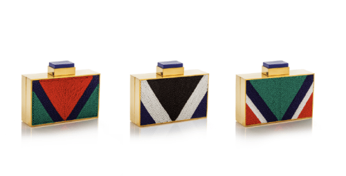 Traditional Maasai beads embellish a collection of bags at Ikram