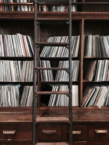 Frankie Knuckles record collection. Photo by Aaron Rose