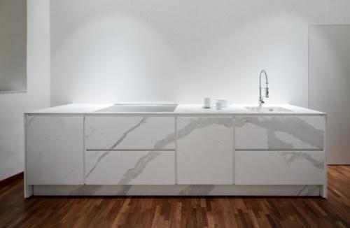 Laminam effetto marmo in cucina  Pambianco Design
