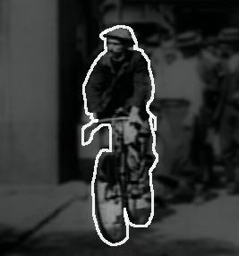 Bright biker is an icon
