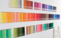 500 colored pencils on your wall | 1 Design Per Day