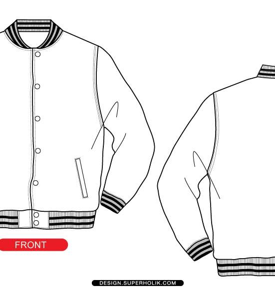 Fleece Jacket Template Vector