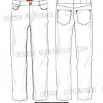 Denim pants vector