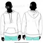 pullover vector template