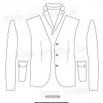 blazer template vector