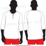 3/4 henry neck shirt template