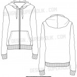 Zip-up hoodie template