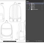 Backpack template