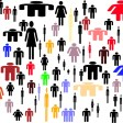 Diversity - women and men all look like different individuals (though women and men are still stereotypes in the isotopic symbols.