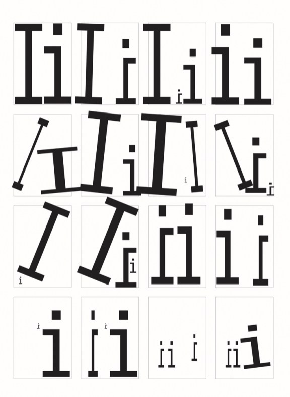 Variations on letter I in Illustrator